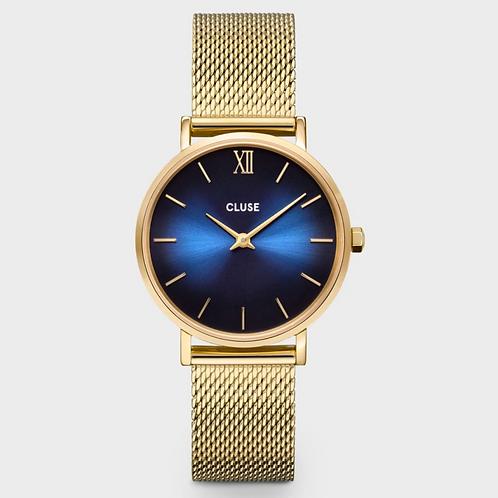 Cluse - Minuit Mesh Deep Blue, Gold Colour - CW10202