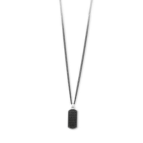 2Jewels - Collana uomo in acciaio zirconi neri 316L - 251738