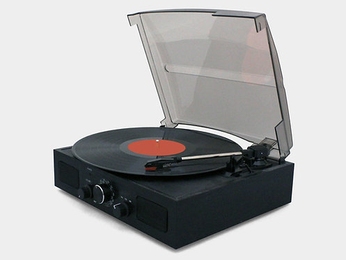 Portable 3-Speed Turntable Cabinet