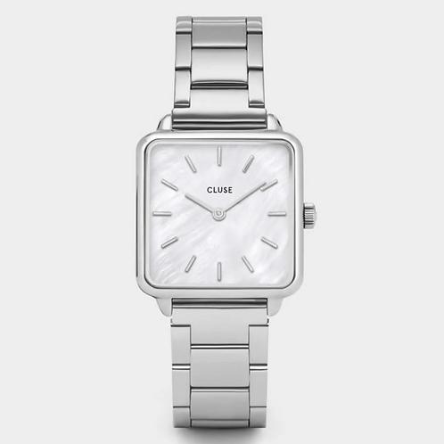 Cluse - La Tétragone Steel White Pearl, Silver Colour - CL60025s