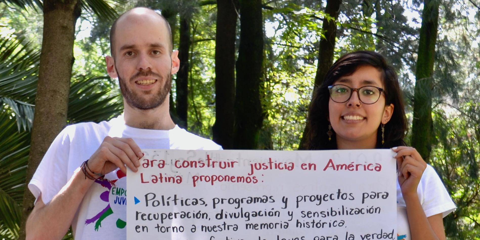 Patricio (Coordinación General) y Kathia (Coordinación de Comités)
