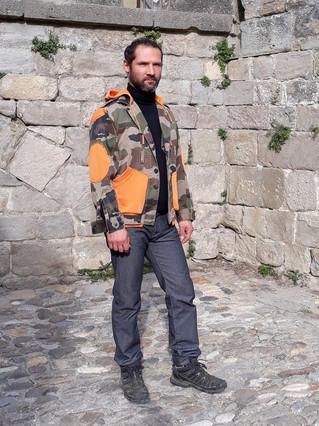 veste camouflage customisée