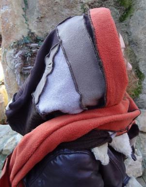 Capuche écharpe laine et polaire