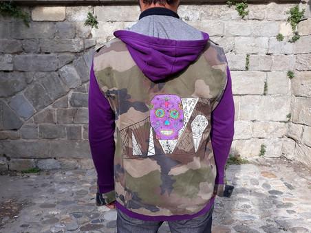 Veste camouflage, peinture dos