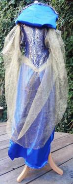 Robe satin bleue