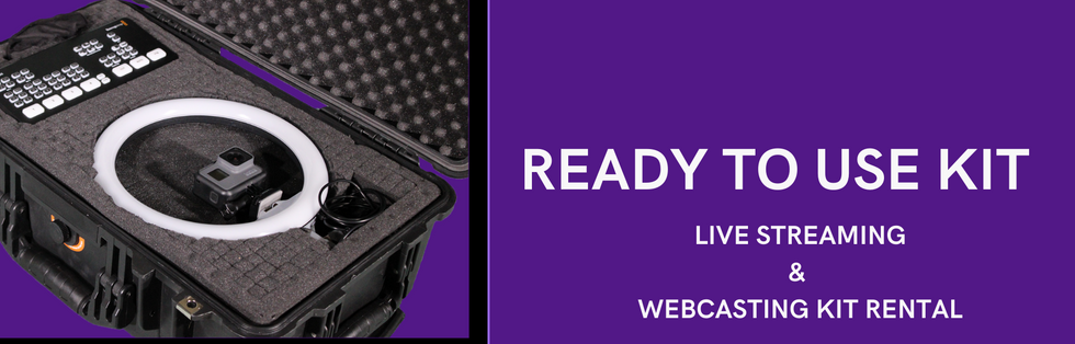 Ready to Use LiveStreaming and Webcasting Kit Rental