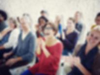 Ethnicity Audience Crowd Seminar Cheerfu