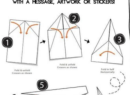 DIY Paper Plane Love Notes