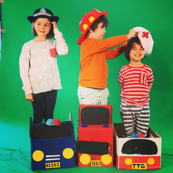 Little Giants To the Rescue! Make your own Cardboard Box Emergency Vehicles