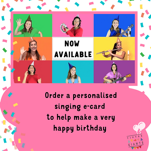 Personalised Singing E-Card with Birthday Gift