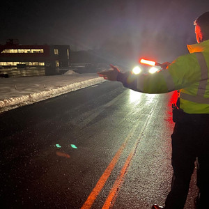 Assisting the Londonderry Police Department with Traffic Control.