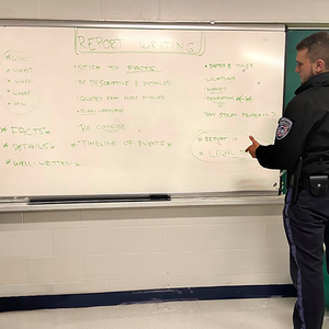 Classroom Training on Report Writing.   It is very important that our security officers understand the importance of a well-written Daily Activity Report / Log and are trained accordingly.