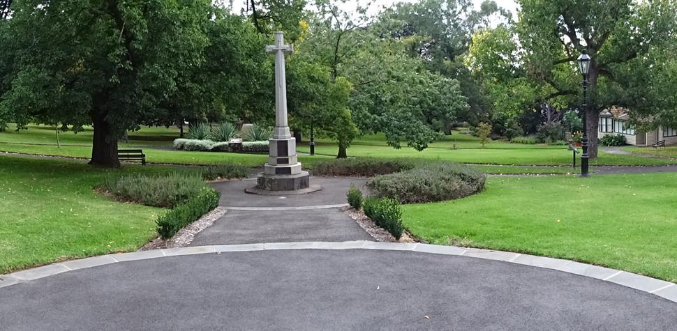 Gardens and Pillar