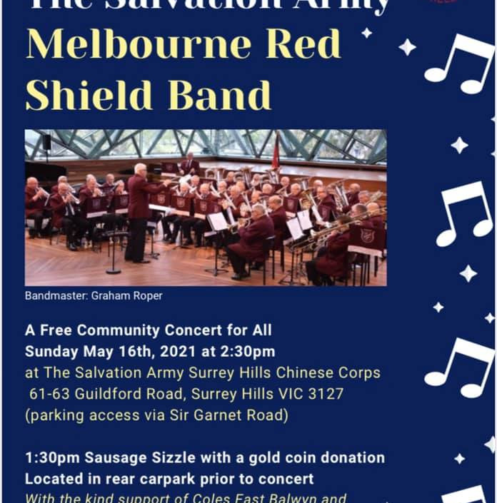 Come along to a sausage sizzle and concert