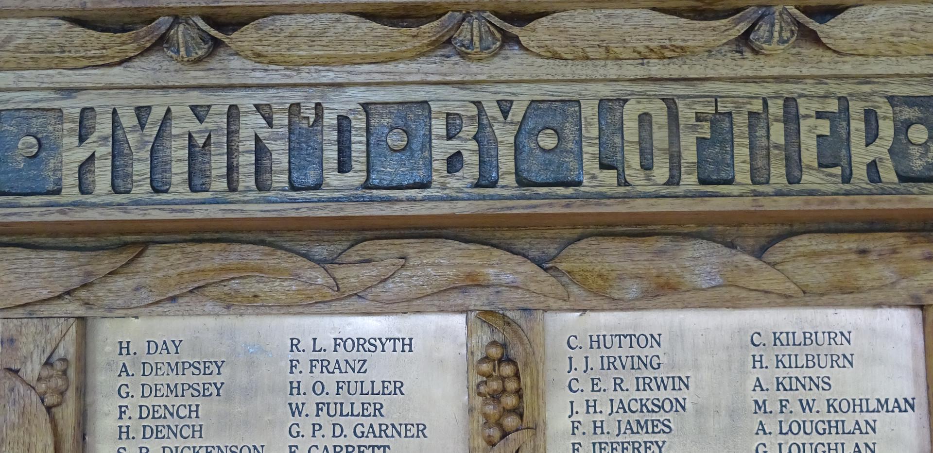 Honour Board detail