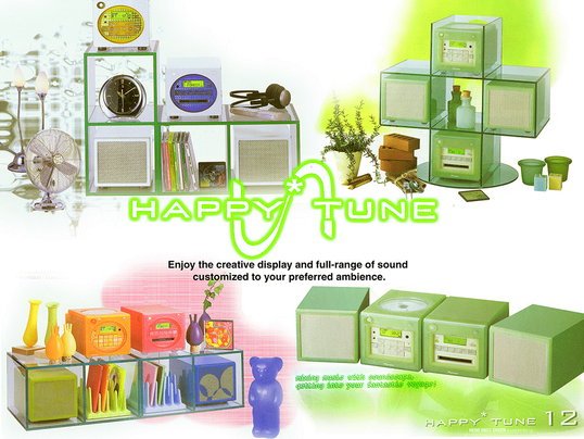 A layout design for an electronics speaker ad campaign.  Client: Happy Tune Role: Layout Artist