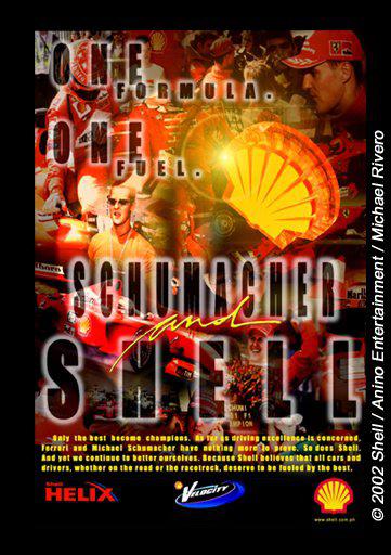 A layout design for Shell & Schumacher.  Client: Shell Role: Layout Artist | 3D Artist
