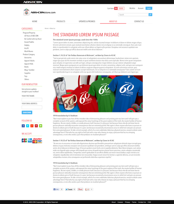 ABS-CBN Store e-Commerce Article Section 02