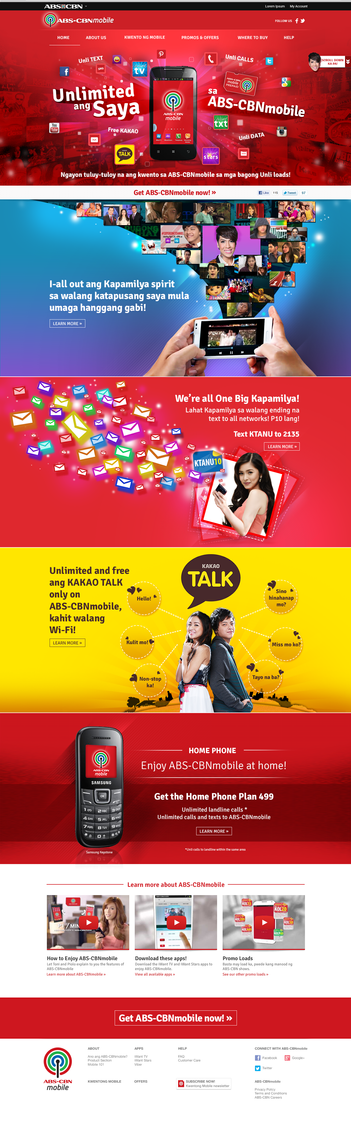 ABS-CBN Mobile Home Page