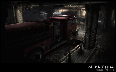 Silent Hill Downpour Firetruck