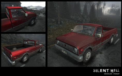 Silent Hill Downpour Red Pickup