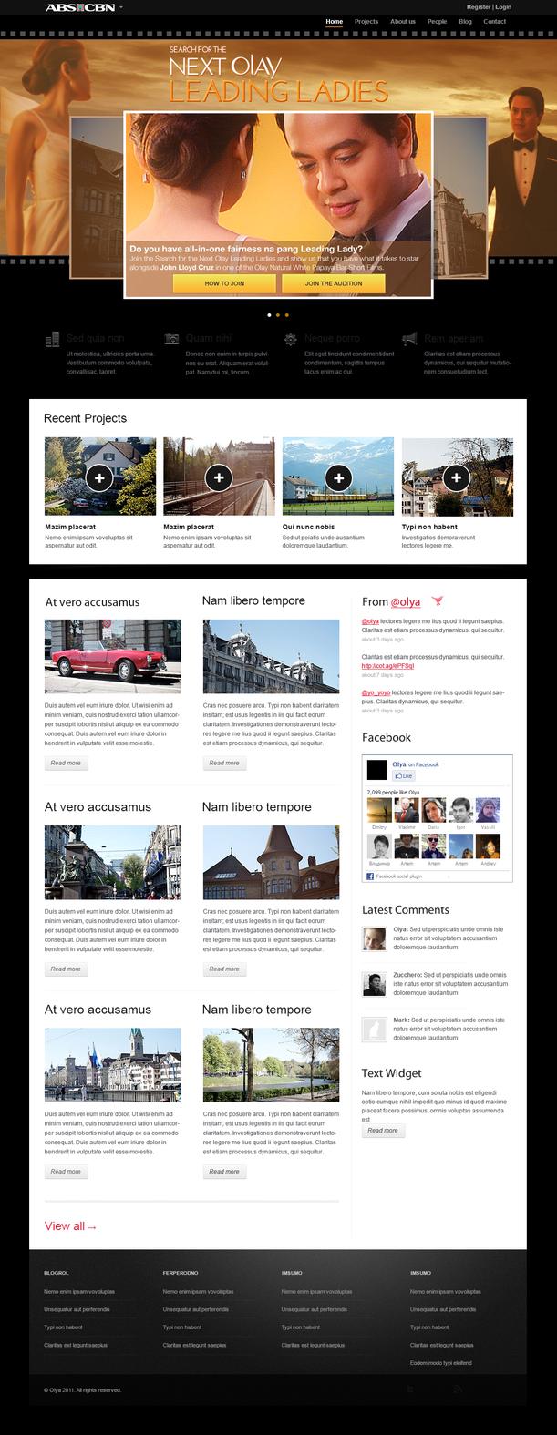 Olay Re-branded Website