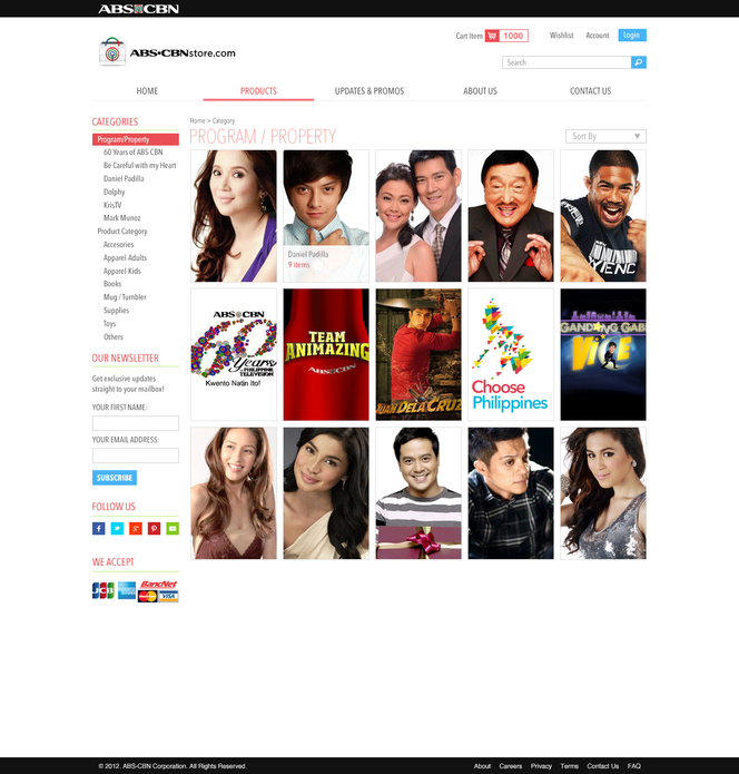 ABS-CBN Store e-Commerce Category Section 01