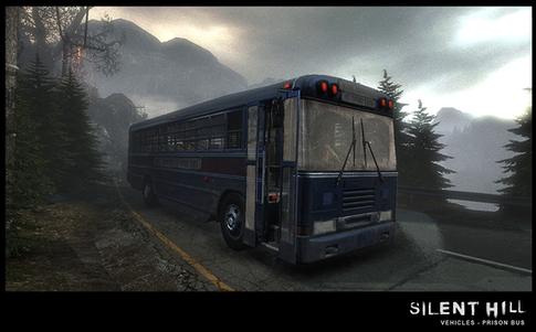 Silent Hill Downpour Prison Bus Right