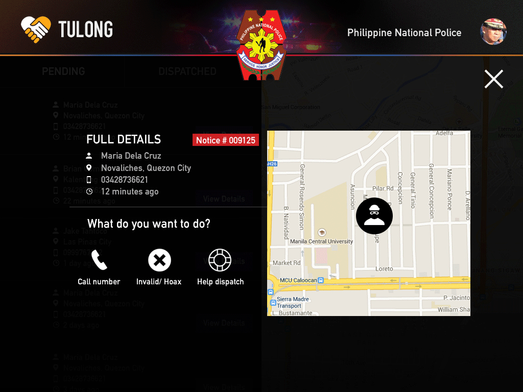 TulongPH Notice Report Police
