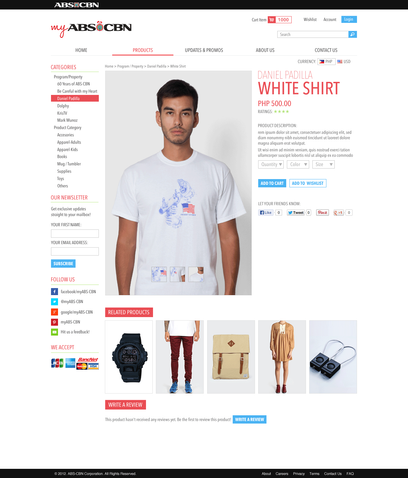 ABS-CBN Store e-Commerce First Draft