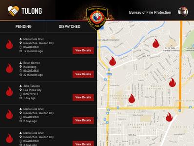 TulongPH Map Fire Area Desktop