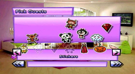 Sleepover Party In-game Stickers