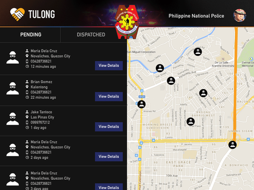 TulongPH Pending Action List for Police