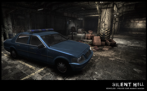 Silent Hill Downpour Modern Police Car