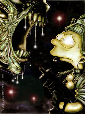 Bart VS Aliens