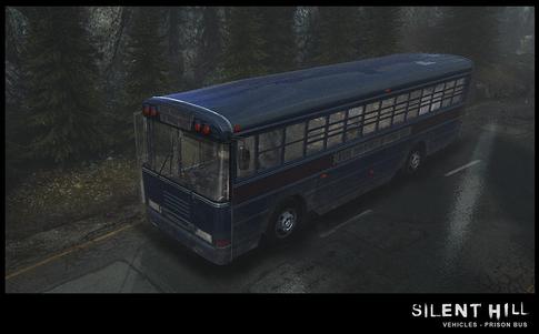 Silent Hill Downpour Prison Bus External