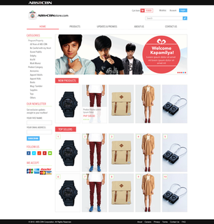 ABS-CBN Store e-Commerce Catagory Page