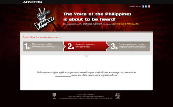 The Voice - Online Audition