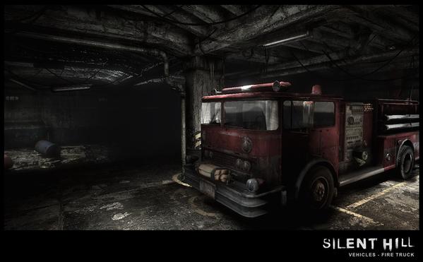 Silent Hill Downpour Firetruck Front