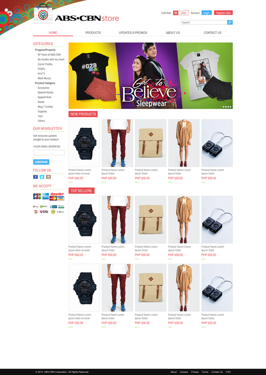 ABS-CBN Store e-Commerce Home