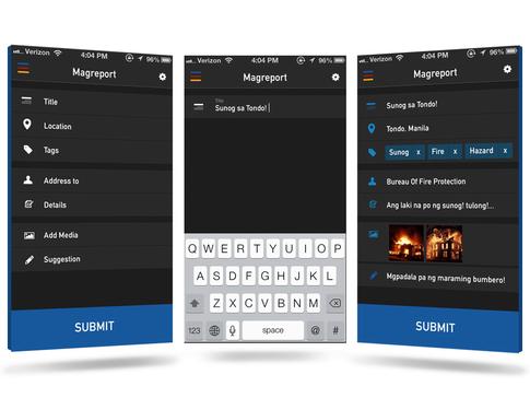 TulongPH Basic Mobile Interface