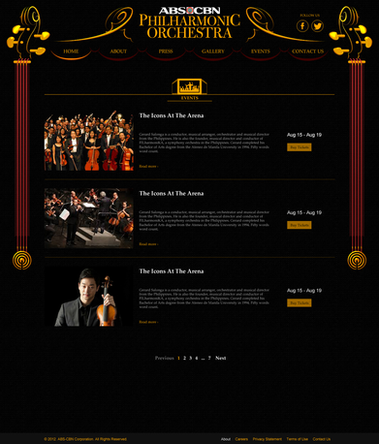 PhilHarmonic Orchestra Events Section