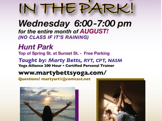Free Yoga in August