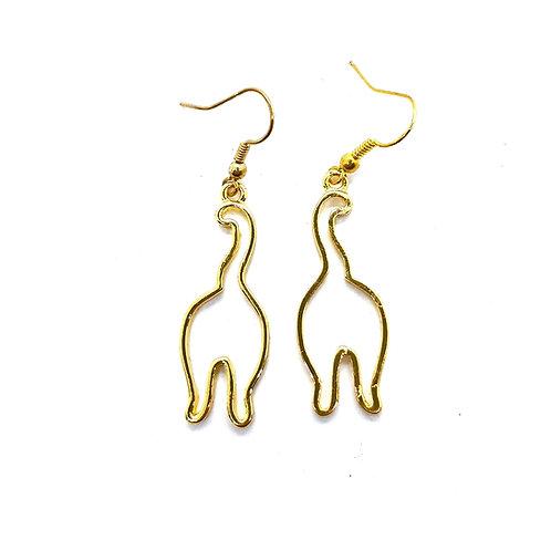 Goldtone Cat Butt Earrings