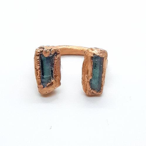 Electroformed Adjustable Tourmaline ring