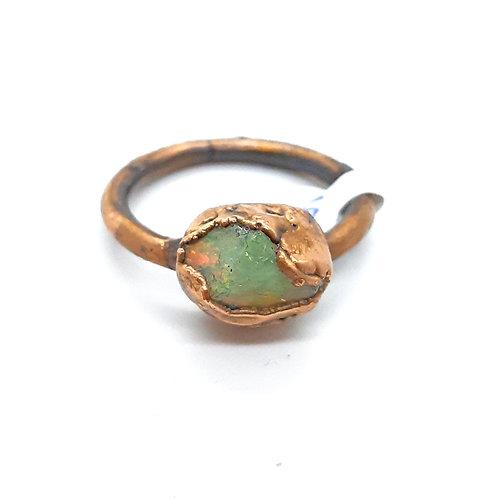 Electroformed Opal Ring
