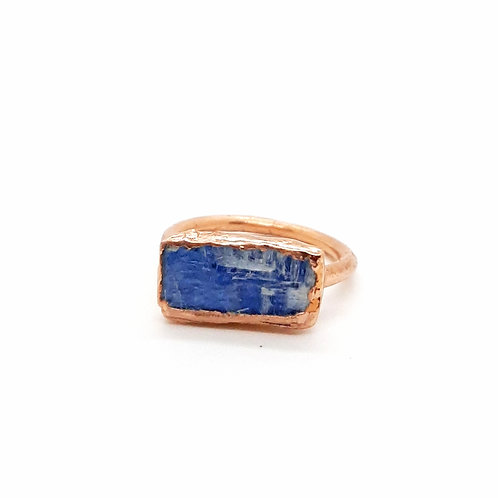 Electroformed Blue Kyanite Ring