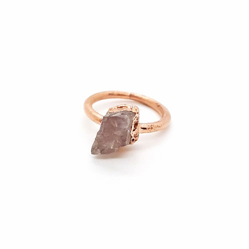 Electroformed Morganite Ring