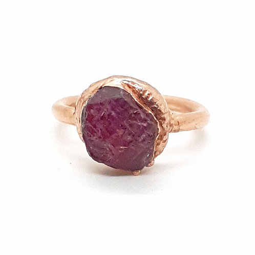 Electroformed Ruby Ring Size 7