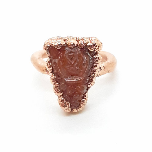 Electroformed cut glass ring